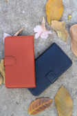 Smartphone leather case cover — Stock Photo