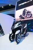 YAMAHA Tricity Multi Wheel Concept Bike motorcycle on display at The 35th Bangkok International Motor Show — Stock Photo
