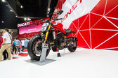 The Ducati  motorcycle on display at The 35th Bangkok International Motor Show 2014 — Stock Photo