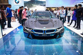 NEW BMW I8 on display at The 35th Bangkok International Motor show on April 2, 2014 — Stock Photo