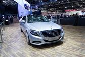 Mercedes Benz S300 BlueTec HYBRID car on display at The 35th Bangkok International Motor Show — Stock Photo
