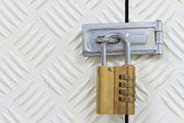 Padlock with combination code — Foto de Stock