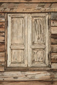 Old wooden wall and window — Stock Photo