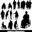 Elderly silhouettes — Stock Vector #31294389