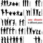 Постер, плакат: Silhouettes set