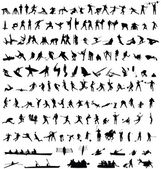 Hundreds of sport silhouetes — Stock Vector