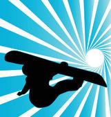 Snowboard illustration — Stock Vector