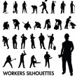 Workers silhouettes — Stock Vector #38390573