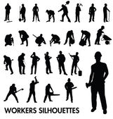 Workers silhouettes — Stock Vector