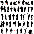 Musican silhouettes set — Stock Vector #44433813