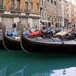 The Venetian gondolas — Stock Photo