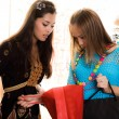 Stock Photo: Two girls are shopping