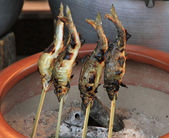 Fish on Skewer — Stock Photo