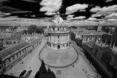 Birdview of oxford university and radcliffe camera — Stock Photo