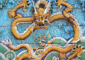 Bas Relief Of A Dragon In Forbidden City, Beijing, China — Stock Photo
