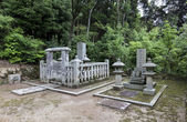 A fragment of a traditional temple graveyard in Kyoto, Japan — Stock Photo