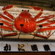 Giant moving crab billboard in Dotombori, Osaka, Japan — Stock Photo