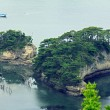 Beautiful islets in Matsushima covered with pines growing on roc — Stock Photo