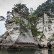 Spectacular coastline in Matsushima, traditionally regarded as o — Stockfoto