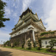 Wideangle photo of the main keep of Osaka Castle  in Osaka, Japa — Stockfoto