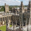 A bird view of All Soul's college in Oxford, England on a sunny — Stock Photo #36945461