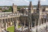 A bird view of All Soul's college in Oxford, England on a sunny — Stock Photo