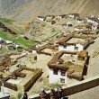 Picturesque himalayan village in Spiti valley, Himachal Pradesh, — Stock Photo