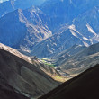 Play of light and shadow on Himalayn valley and neighboring moun — Stock Photo