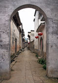 Empty street of an ancient town in Anhui province in China — Stock Photo