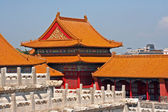 Yellow roofs of the Forbidden City in Beijing, China — Stock Photo