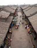 Erial view of an old street in Pingyao, China — Foto Stock
