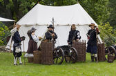 History fans dressed as 17th century mercenary soldiers — Foto de Stock