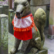 Kitsune statue, shinto shrine, Japan — Stock Photo #39936423