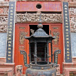 Stock Photo: Ornamental beautifully decorated entrance to taoist temple, Ch