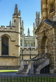 Aerial view of roofs and spires of oxford — Stock Photo