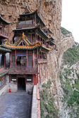 Famous hanging monastery in Shanxi Province near Datong, China, — Stockfoto