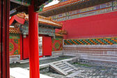 Courtyard of a pavillon in forbidden city, Beijing, China — Stock Photo