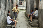 Group of elder villagers, Anhui province, China — Stock Photo