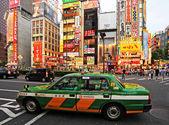 Characteristic green Tokyo taxi, Japan — Foto de Stock