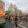 Stock Photo: Crowds in shinjuku district, tokyo, Japan