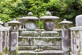 Fragment of a traditional temple graveyard in Kyoto, Japan  — Stock Photo