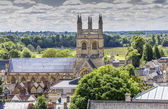 Aerial view of Merton College, oxford, england — Stock Photo