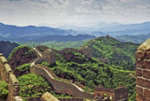 Oil painting stylized photo of the great wall of china — Stock Photo