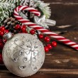 Stock Photo: Christmas decoration on wooden table