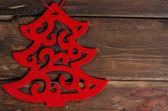Decoração de natal na mesa de madeira — Fotografia Stock