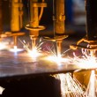 CNC LPG cutting with sparks close up — Stock Photo #31285631
