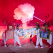 Ayutthaya Ligth & Sound Presentation and Thai historical acting  — Stock Photo