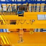 Factory overhead crane — Stock Photo #32784053