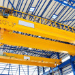 Factory overhead crane — Stock Photo