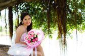 невесты и цветок. — Стоковое фото